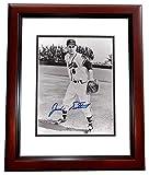 Jack Dittmar Autographed / Hand Signed Milwakee Braves 8x10 Photo MAHOGANY CUSTOM FRAME