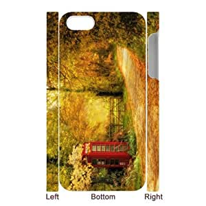 chen-shop design Custom Your Own Personalized Unique Telephone booth surrounded by autumn trees Iphone 5 Durable Case Cover high XXXX