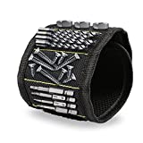 Beevivo Magnetic Wristband With Powerful Magnets Holding Screws Nails Drill Bits Cool Gifts Gadgets Tools for Men Him Husband Dad Father DIY Handyman