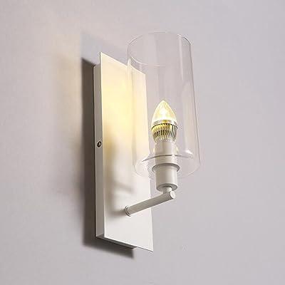 Abat-Jour En Verre Moderne Minimaliste Fer Lampe Murale À La Créativité D'Escalier Couloir Lampe Murale De Salon