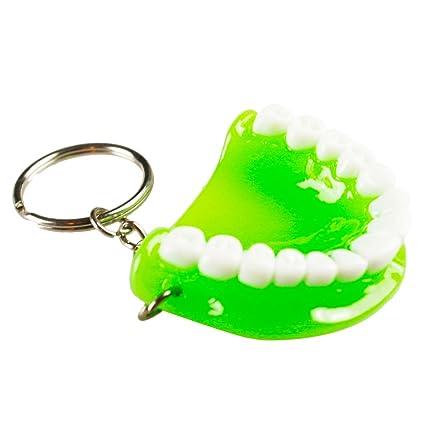 Earlywish 5pcs Boca Dientes Llavero para Dentista móvil ...