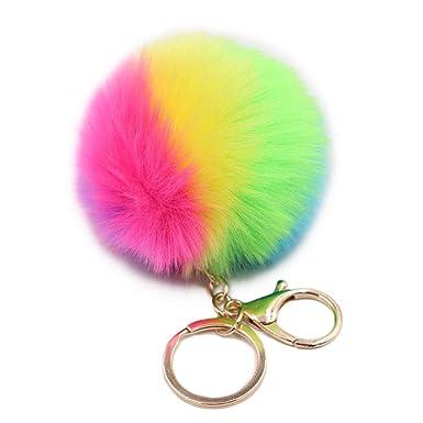 Amazon.com: NUOBESTY Llavero de peluche, diseño de bola ...