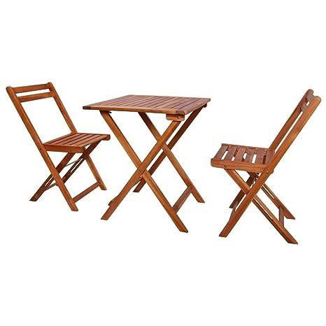 Set Tavolo E 2 Sedie Da Esterno.Galapara 3 Pz Set Tavolino Da Giardino Con Tavolo E Sedie Pieghevoli