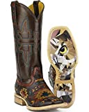 Tin Haul Women's South By Sw Cowgirl Boot Square Toe Multi 5 M US