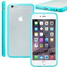 Easygoby [Shock Absorbent] iPhone 6 /6S (4.7) Soft TPU Hybrid Sleek [Dual Tone] Frame Rim with Frosted Matte Clear Hard Back [Scratch-Resistant] Phone Case /Cover /Skin /HardShell For Apple iPhone 6 /6S (4.7) - Turquoise