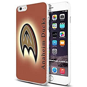 diy zhengNHL HOCKEY Anaheim ducks logo, , Cool iPhone 6 Plus Case 5.5 Inch Smartphone Case Cover Collector iphone TPU Rubber Case White [By PhoneAholic]