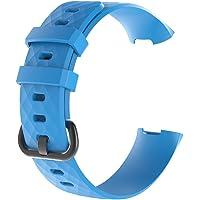 Sport polsbandjes zachte horlogeband vervangende band siliconen bandjes armband (blauw)