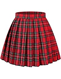 Women's Japan high Waisted Pleated Cosplay Costumes Skirts