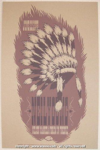 2008 Neil Young Silkscreen Concert Poster by (Silkscreen Concert Poster)