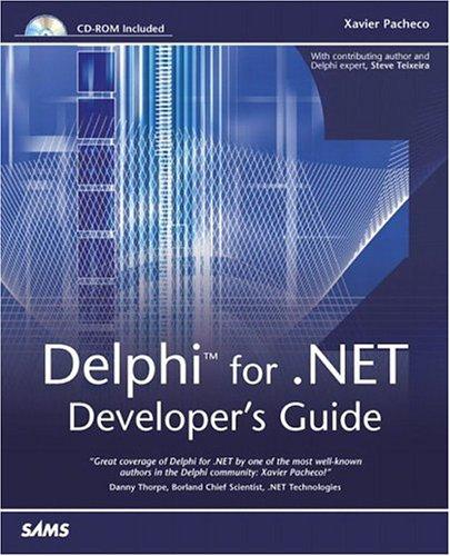 Delphi for .Net Developer's Guide ISBN-13 9780672324437