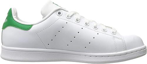 Adidas ORIGINALS Stan Smith Zapatillas de Correr para Mujer, Blanco/Blanco  (White/White/Fairway), 8.5 US