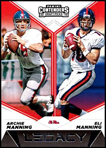 2019 Panini Contenders Draft Tickets Legacy #10 Archie Manning/Eli Manning Ole Miss Rebels NCAA Football Trading Card