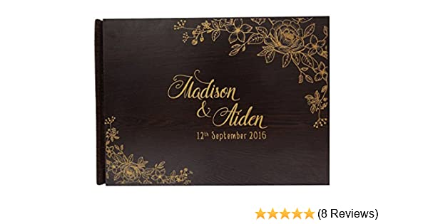 PERSONALISED WEDDING GUEST BOOK or Engagement Anniversary PartyUnique Gift