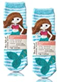 Bath and Body Works 2 Pack Mermaid Shea-Infused Lounge Socks.