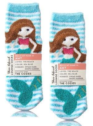 Bath and Body Works 2 Pack Mermaid Shea-Infused Lounge Socks. by Bath & Body Works