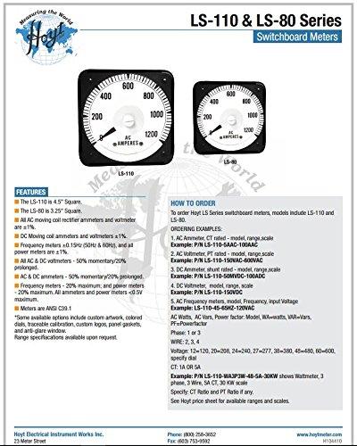 Hoyt Electrical Instrument Works LS-110-45-55HZ-120V-N Switchboard Frequency Meter