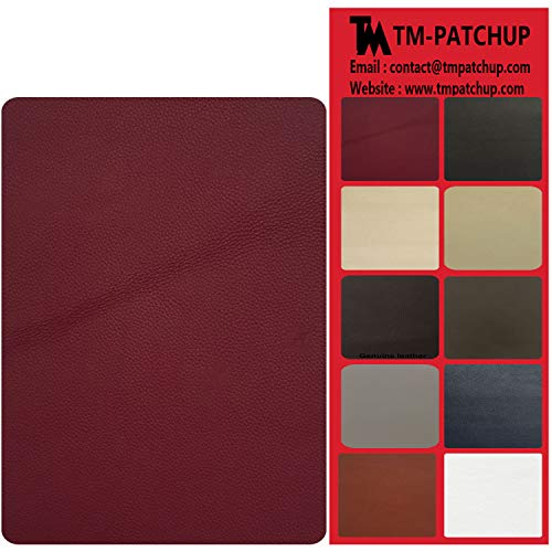 TMgroup, Leather Couch Patch, Genuine Faux Leather Repair Patch, Peel and Stick for Sofas, car Seats, Hand Bags,Furniture, Jackets, Large Size 8-inch x 11-inch (Burgundy) ()