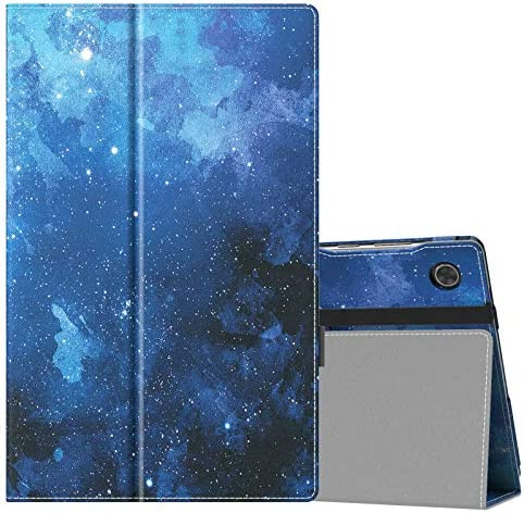 "MoKo Case Compatible with Lenovo Tab M10 HD 2d Gen (TB-X306X) / Smart Tab M10 HD 2d Gen (TB-X306F) 10.1"" Tablet - Slim Folding Stand PU Leahter Smart Cover Case with Auto Wake/Sleep, Blue Star"