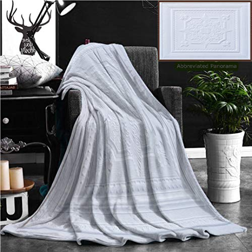 Sheets 50 300gsm (Nalagoo Unique Custom Flannel Blankets Patterns On The Ceiling Gypsum Sheets Super Soft Blanketry for Bed Couch, Throw Blanket 70