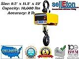 Selleton Industrial Super Duty Crane Scale | Hanging Scale Large Enclosure 10,000 X 2 Lb