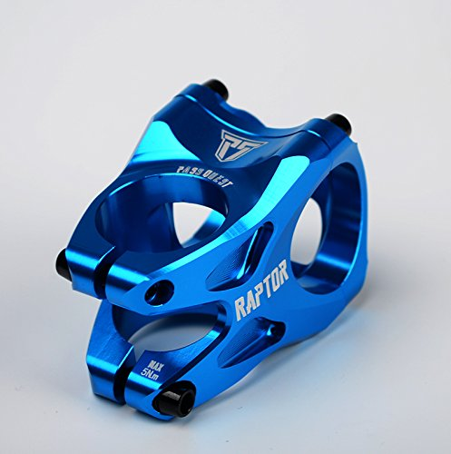 PASS QUEST Bicycle Stem AM DH FR DJ TR Mountain Dirt Jump Trail Bike Short Stem Parts (Blue)