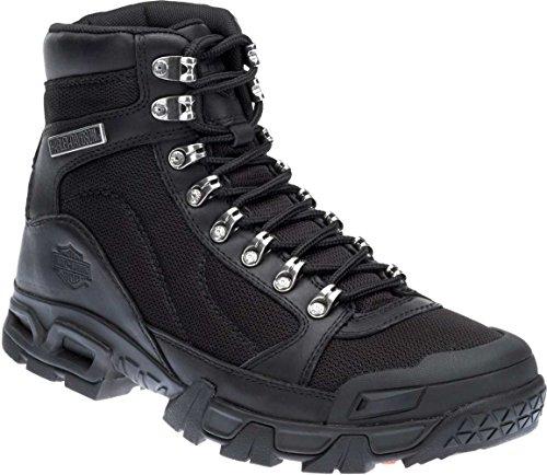 Harley-Davidson Men's Parkwood Leather Mesh Motorcycle Boots D96132 (Black, 10)