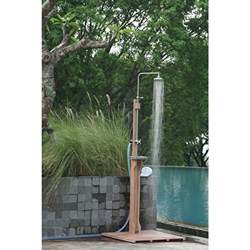 Cambridge Casual Astoria Outdoor Shower, 30 inches long x 30 inches wide x 77 1/2 to 81 1/2 inches high