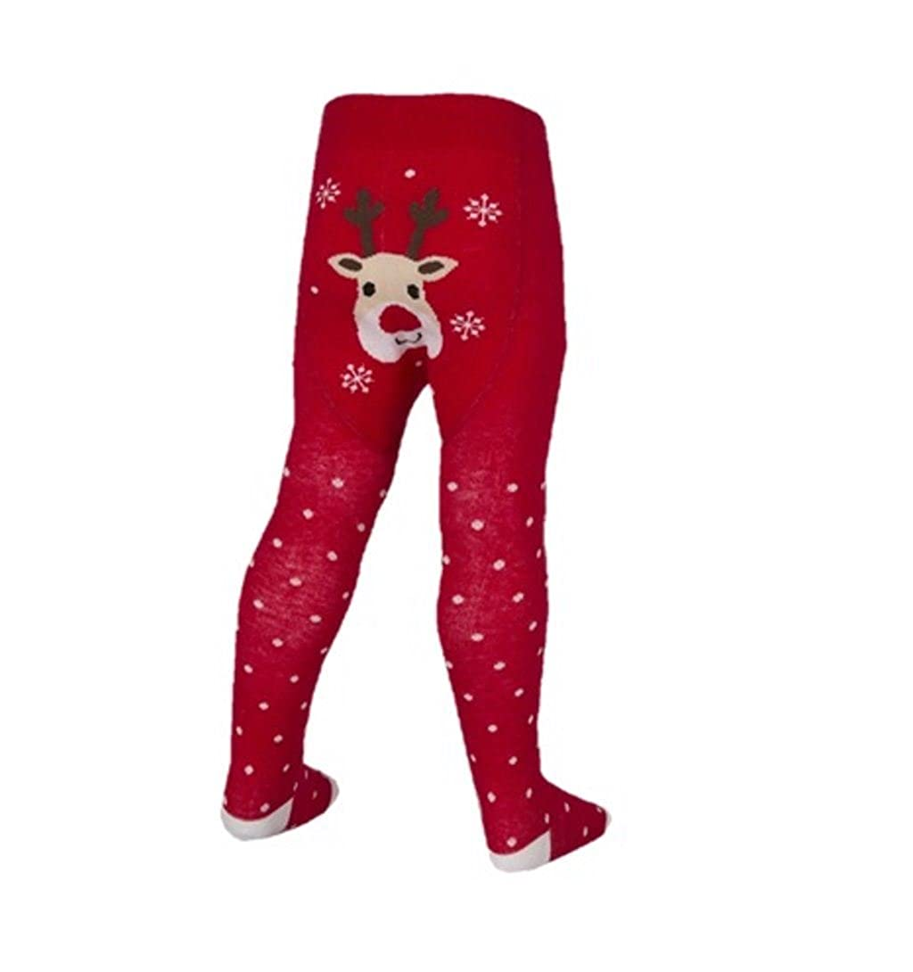 Babies Baby Girls Christmas Tights 6-24 Months Novelty Pantyhose festive