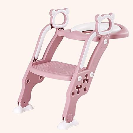IR al baño del niño del Asiento de tocador Silla para niños con Antideslizante Escalera Diversión Funcional Trainer cómodo Resistente Seguro para 1-7 Boy and Girl,B: Amazon.es: Hogar