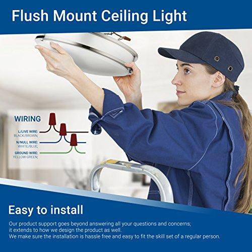 Hyperikon LED Flush Mount Ceiling Light, 14'', 100W equivalent, 1980lm, 4000K (Daylight Glow), 120V, 14-Inch, Dimmable by Hyperikon (Image #7)