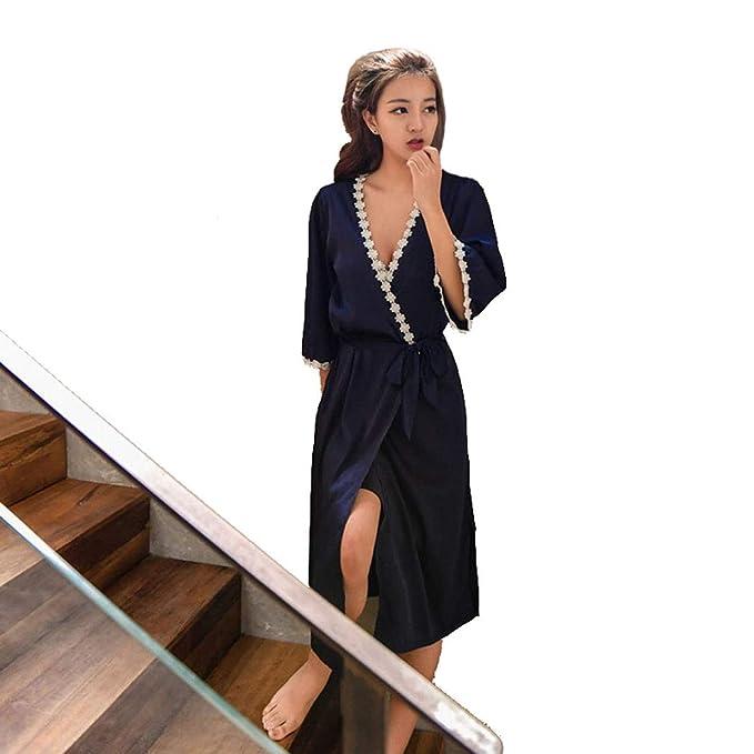 TT Global 2019 Camison Sexy Mujer Elegante picardías Babydoll Ropa Interior Mujer Sexy Conjuntos Batas y Kimonos, Ropa Mujer Seda Vestido de Bata de Encaje ...