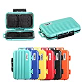 HelloPower Memory Card Cases, SD SDHC SDXC CF TF Memory Card Case Holder Waterproof Carrying Storage Case Holder Box Keeper for Computer Camera Media Storage Organization with 24 slots (Green)