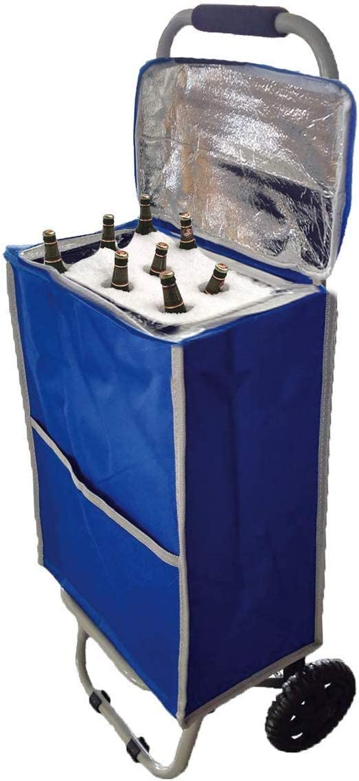 Ultra Compact Cooler - Insulated Collapsible Rolling Tailgate BBQ Beach Summer - Coolers for Teachers, Shopping Or Picnic