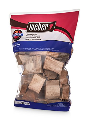 Weber-Stephen Products 17148 Hickory Wood Chunks, 350 cu. in. (0.006 cubic meter) - Hickory Wood