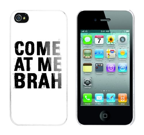 Iphone 4 Case Come at me Brah Rahmen weiss