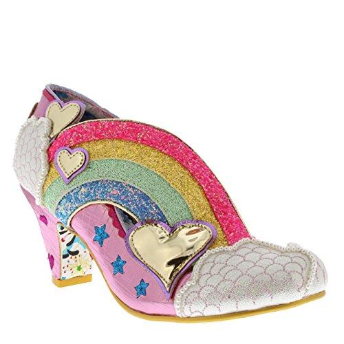 Irregular Choice Womens Summer of Love Glitter Rainbow Wedge Heels - Pink - 9.5 by Irregular Choice (Image #4)