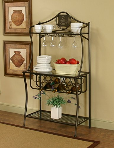 Sunset Trading Bakers Rack, Cappuccino by Sunset Trading