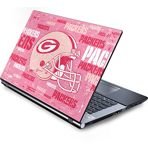 Skinit NFL Green Bay Packers Generic 13in (12.803in w X 8.996in h) Laptop Skin - Green Bay Packers - Blast Pink Design - Ultra Thin, Lightweight Vinyl Decal Protection (Green Generic Packers Laptop Bay)