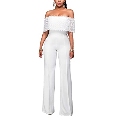 Coolred-Women Overall Zipper Fashion Side Zip Baggy Casual Formal Jumpsuit White XS