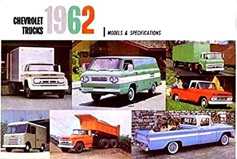 1962 CHEVY TRUCKS & PICKUPS BEAUTIFUL & HISTORIC DEALERSHIP SALES BROCHURE - ADVERTISMENT Includes Corvair 95, Chassis Cab, Gas & Diesel, Forward Control, Bus, Tandem, Stake, Panel, Carryall - CHEVROLET (Diesel Heaters For Sale)