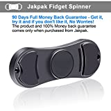 Jakpak Fidget Spinner Toy EDC Hand Spinner [Removable Finger Button, Ultra-durable] Anxiety Foucs Hand Toy for ADHD Autism Boredom Stress Children or Adults Quality Copper Made Pocket Toy Black