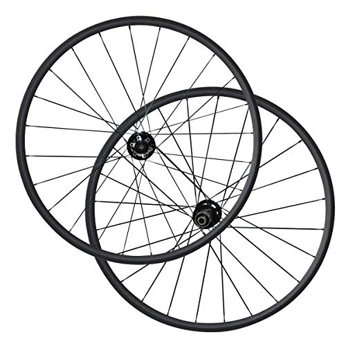 FidgetFidget Clincher Carbon Bike Cyclocross wheelset 12mm 15mm Thru axle Disc Brake hub 24mm 23mm Width -