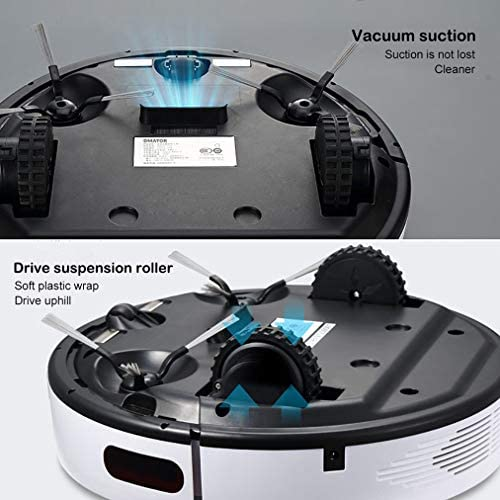 HCH Robot Cleaner, Auto-chargé, détection Anti-Chute, surmonter Les Obstacles Bas, aspirateurs robotiques pour Poils d\'animaux, sols durs, Tapis à Poils Moyens