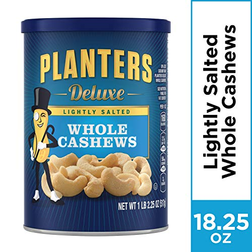 Planters Deluxe Whole Cashews (18.25 oz Canister)