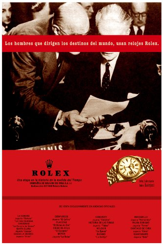 Rolex Ad poster. Spanish.Decor with Unusual