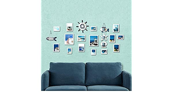 Daeou Foto pared decorativo pared portaretrato colgante dormitorio combinación de pared pared de la foto: Amazon.es: Hogar