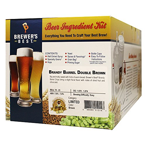Grape Brandy - Brewer's Best Brandy Barrel Double Brown Five Gallon Beer Making Ingredient Kit