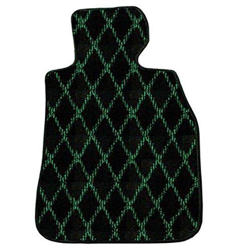 ZEROフロアマット フロアマット アウディ A4セダン(B8) 2008/3~ 8KC 右ハンドル用 ダイヤモンド グリーン ヒールパッド付 B0104C1WAK ダイヤモンド×グリーン ダイヤモンド×グリーン