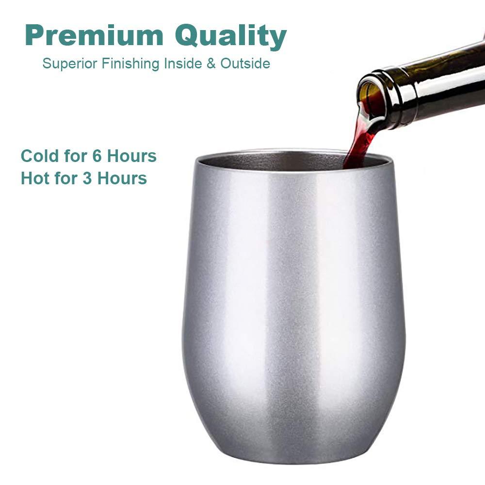Amazon.com: Hengrui Vaso de vino de doble pared aislado al ...