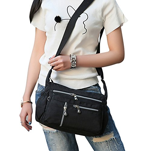 Purses Crossbody Bag Handbags Black Shoulder Casual Nylon Women Bags Messenger Wocharm qWUEP0